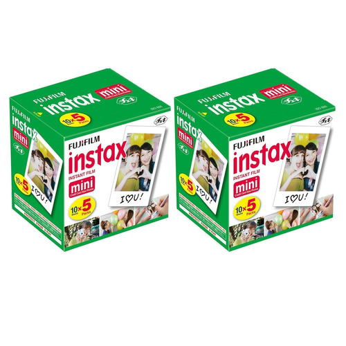 fuji instax mini instant film 100 tiros con bono paquet...