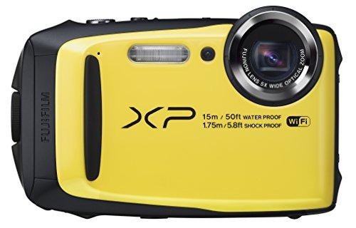 fujifilm finepix xp90 cámara digital impermeable amarillo (