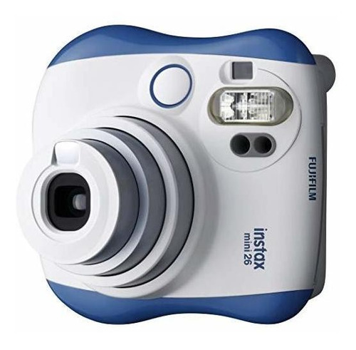 fujifilm instax mini 26 + rainbow film bundle - azul / blanc