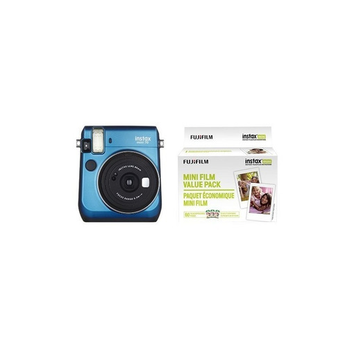 fujifilm instax mini 70 - instant film camera (blue) y insta