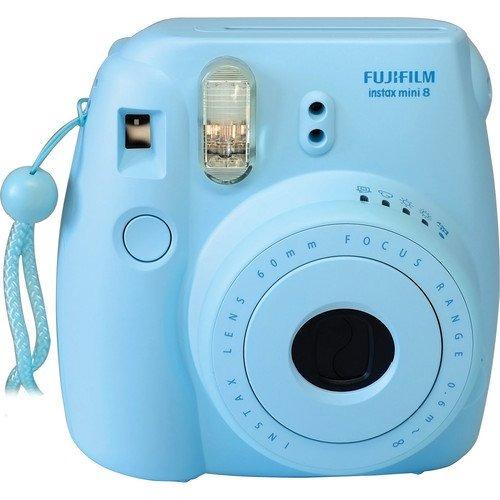 fujifilm instax mini 8 instantáneo película cámara ( azul