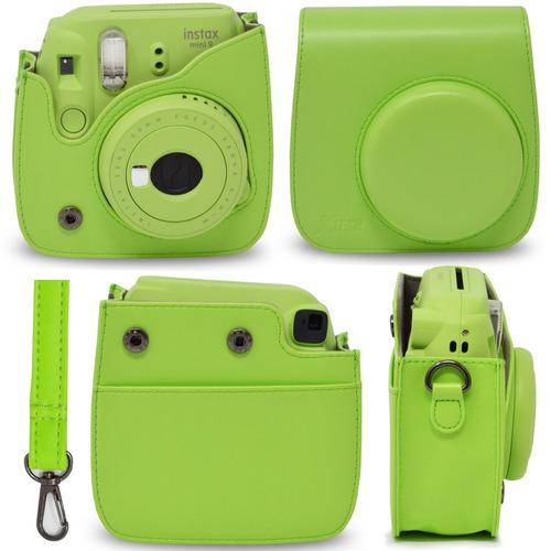 fujifilm instax mini 9 cámara instantánea lime green + emoji