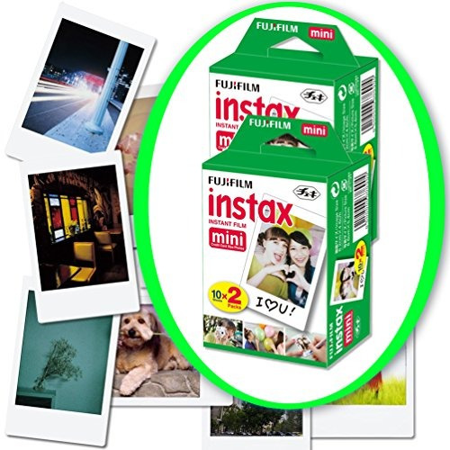 fujifilm instax mini 9 cámara instantánea white instax pelí