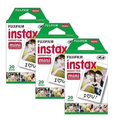 fujifilm instax mini 9 (hielo azul), 3x instax film (60 hoja