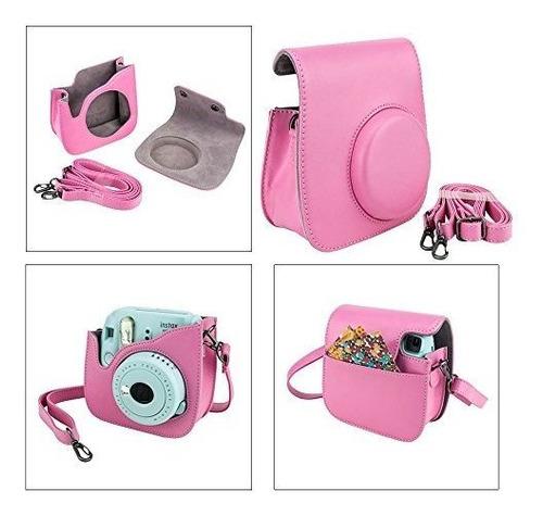 fujifilm instax mini 9 instant film camera (flamingo pink) +