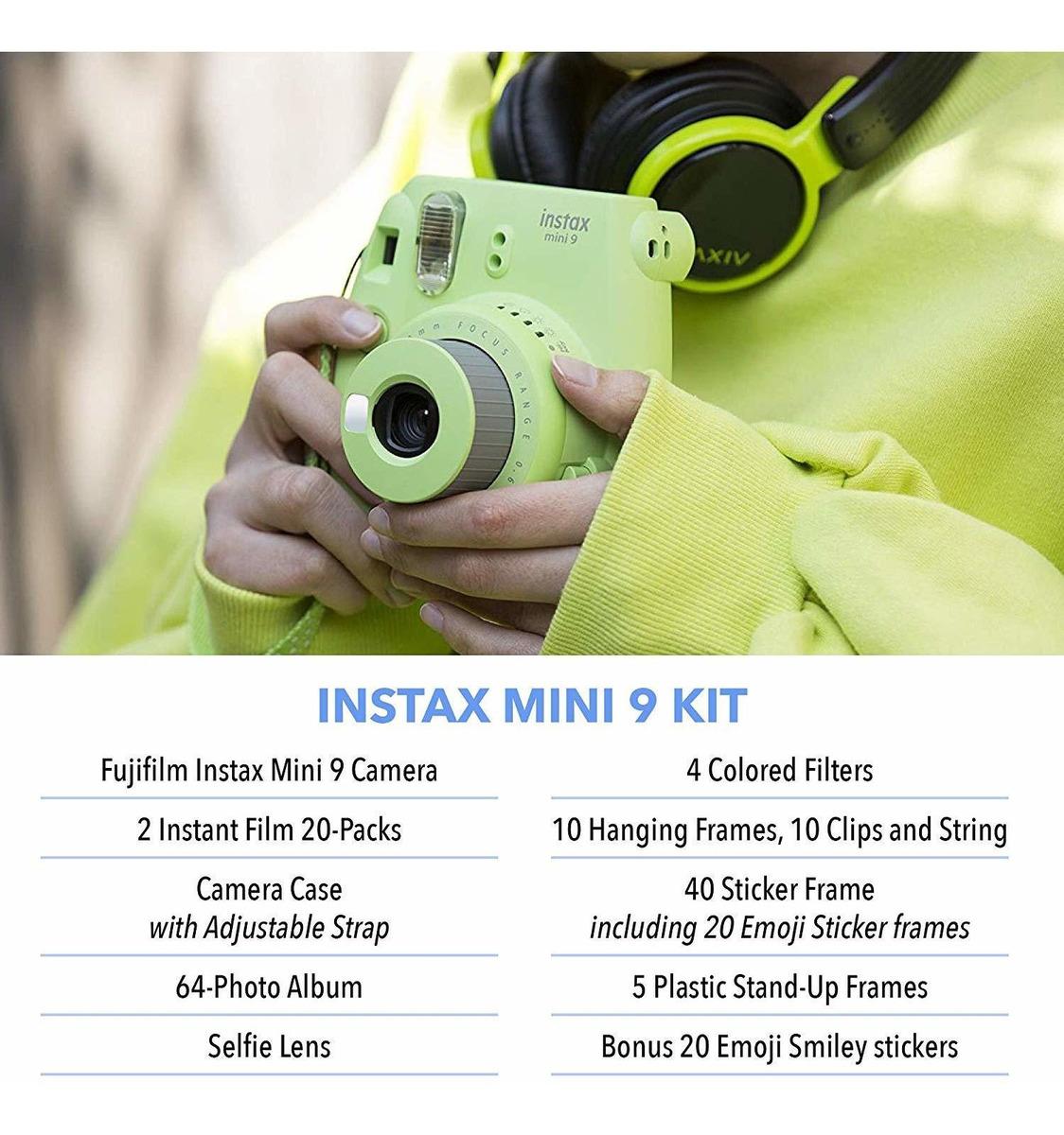 Instax Mini 9 color lime green Bolso