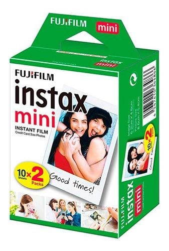fujifilm instax mini instant film cartucho 20 fotos