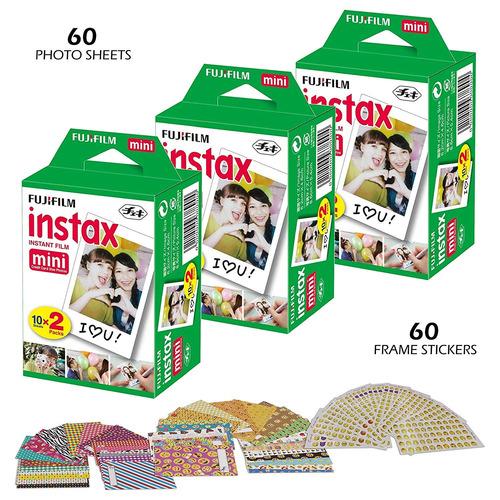 fujifilm instax mini instant film (white) para fujifilm mini