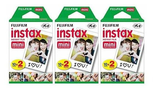 fujifilm instax mini película instantánea (3 paquetes dobles
