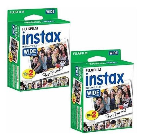 fujifilm instax wide instant film 40 copias para cámara foto