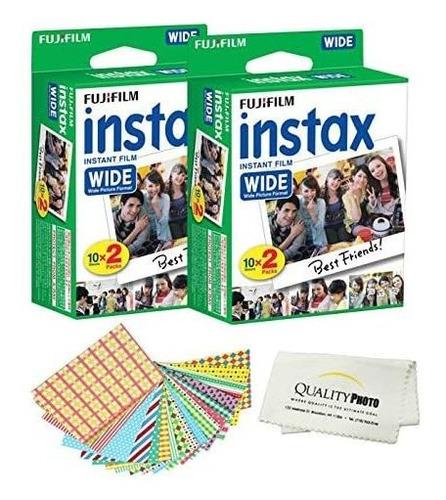 fujifilm instax wide instant film pack de 40 - 40 hojas - (b