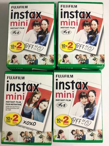 fujifilm pack 20 películas instax mini 8 9 fotos instax film