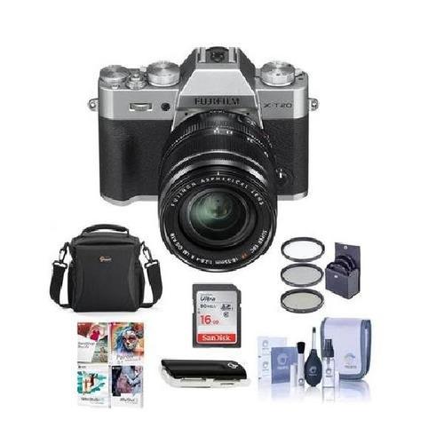 fujifilm x-t20 mirrorless digital camera body, with xf 18-55
