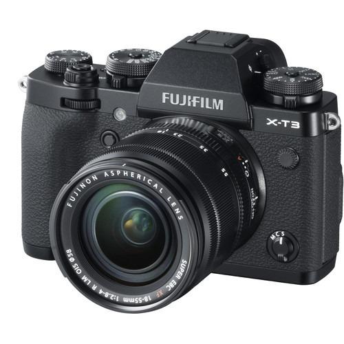 fujifilm x-t3 black + xf 18-55mm f2.8-4 r lm ois