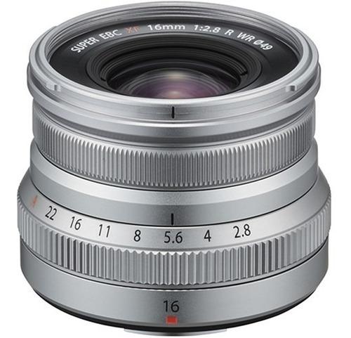 fujifilm xf 16mm f/2.8 r wr / lente fuji 16mm ( prata )