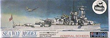 fujimi 1/700 alemán del acorazado almirante scheer