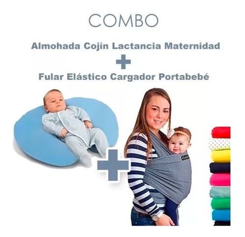 fular elastico bebe+ almohada cojin lactancia