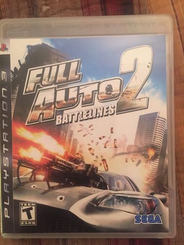 full auto 2 battlelines ps3