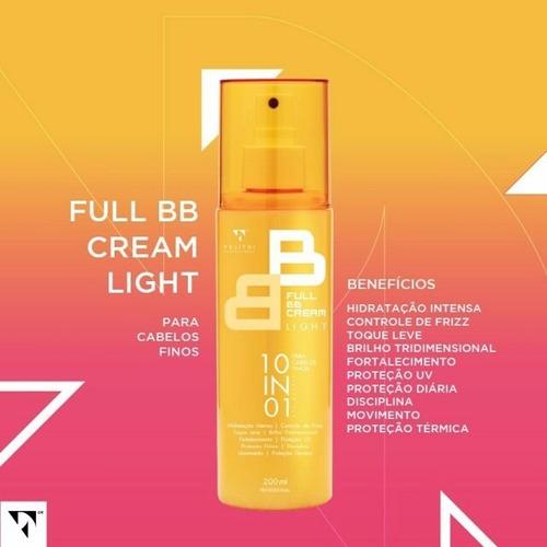 full bb cream light - para cabelos finos (sem pesar)