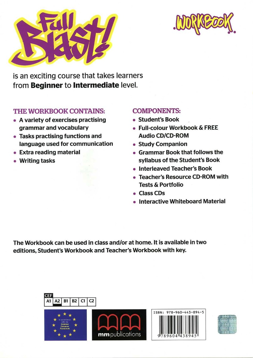Full Blast 3 - Workbook Con Cd (1) - $ 320,00 en Mercado Libre