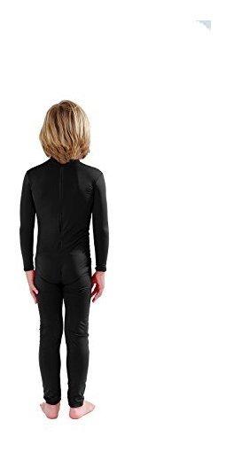 Full Bodysuit Kids Dancewear Solid Color Lycra Spandex Zentai Child Unitard