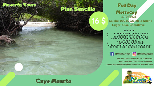 full day morrocoy- cayo muerto