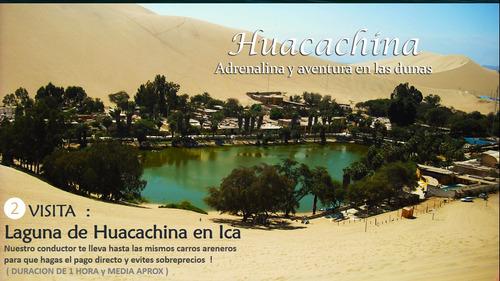 full day paracas huacachina ica transporte en van y bus !