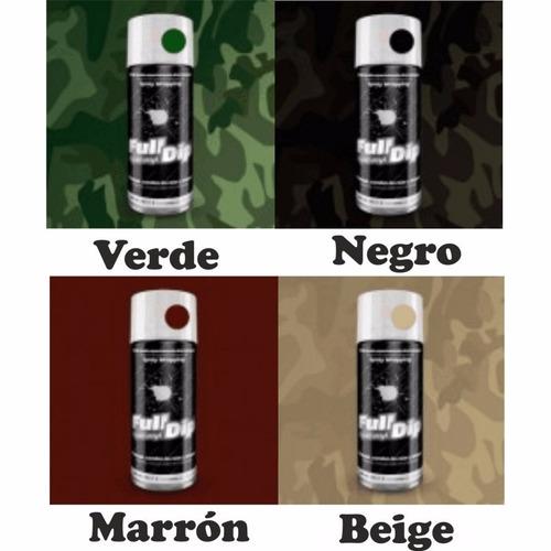 full dip vinilo líquido plast spray aerosol 400ml color camo