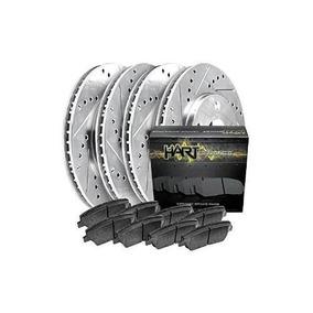 2399 FRONT KIT 2 Platinum Hart *DRILLED /& SLOTTED* Front Disc Brake Rotors