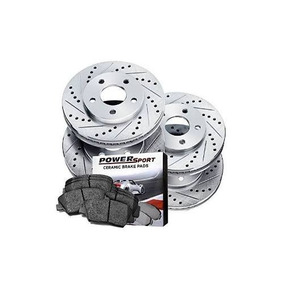 BLACK HART DRILLED SLOTTED  BRAKE ROTORS FITS QUEST 2004-2012 FULL KIT