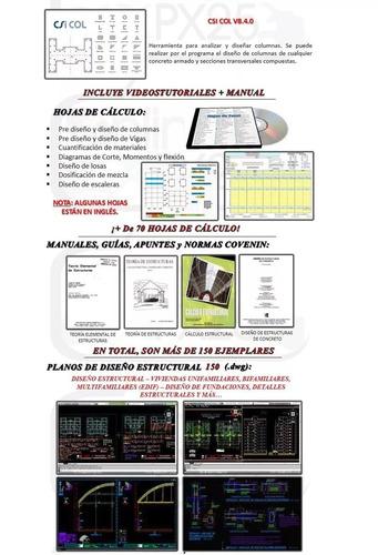 full software csi etabs col + twodframe + aplicacion beamx