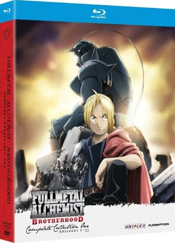 fullmetal alchemist brotherhood coleccion 1 y 2 blu-ray