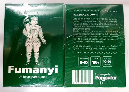 fumanyi - un juego para fumar - cartas - previa - hay stock