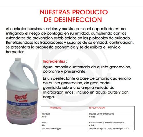 fumigacion contra coronoavirus - desinfeccion y aseo