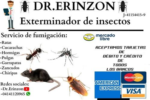 fumigación contra garrapatas termitas, polillas, alacranes