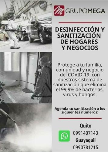 fumigación, sanitización y desinfección