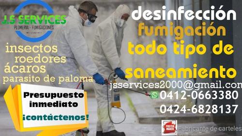 fumigaciones 100% garantizadas desinfección control de plaga