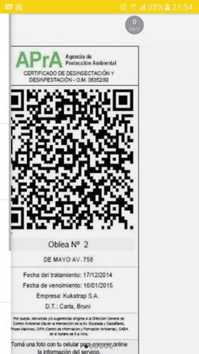 fumigaciones certificados plagas desratizaciones $ 1200 caba