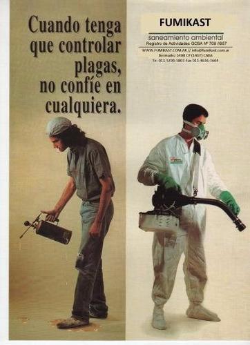 fumigaciones control de plagas desratizaciones  $ 500 caba