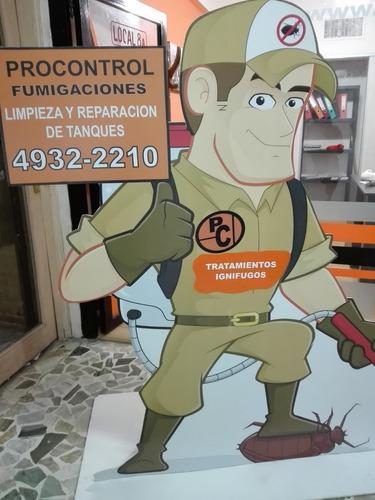fumigaciones - control de plagas - limpieza de tanques