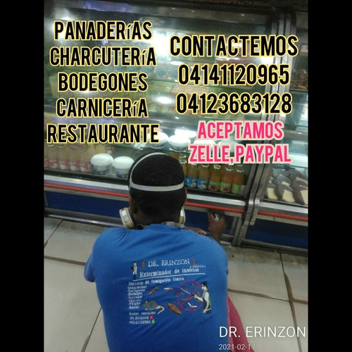 fumigaciones dr. erinzon chiripas, cucarachas , garrapatas