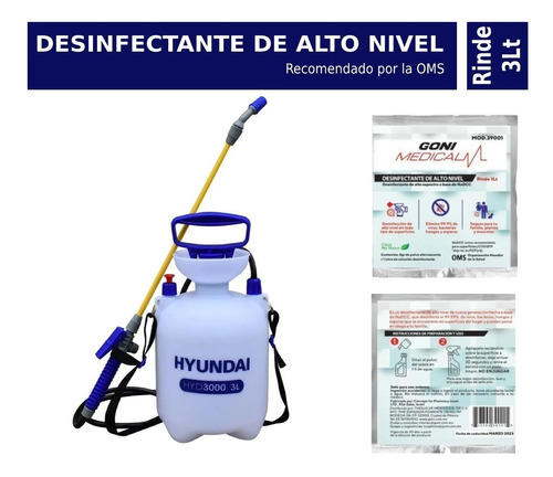 fumigador 3 litros + sobre desinfectante antibacterial nadcc