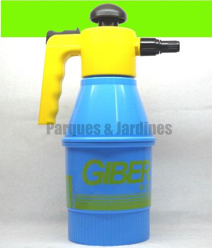 fumigador pulverizador giber de 1.5 lts  de presión a bomba