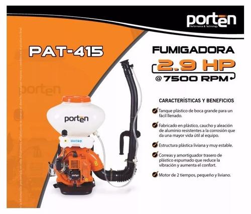 fumigadora 26lt 2.9hp 41.5cc 7500rpm marca porten.