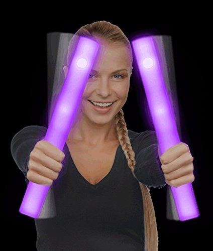 fun central led espuma stick baton supreme - púrpura - paqu