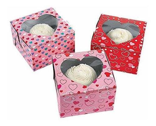 fun express - cajas para magdalenas talla unica rojo rosa