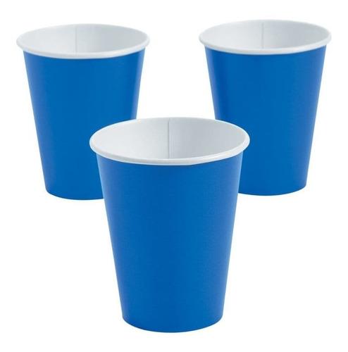fun express tazas de papel azul cobalto