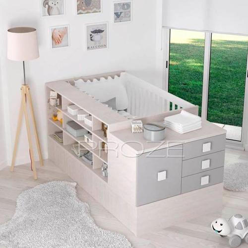 Cuna Funcional Conver Valenziana Colchon Proze Muebles - $ 18.969,00 ...