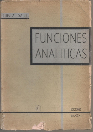 funciones analíticas galli luis