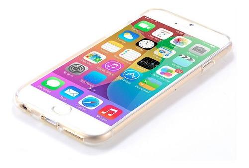 funda 100% transparente gel tpu para iphone 6 y 6s + vidrio